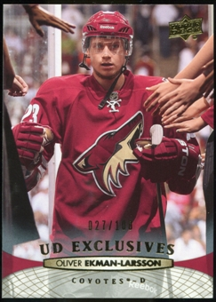 2011/12 Upper Deck Exclusives #57 Oliver Ekman-Larsson /100