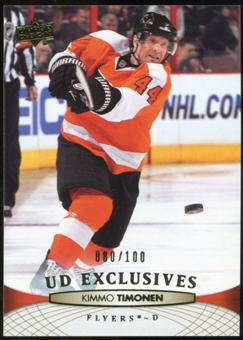 2011/12 Upper Deck Exclusives #60 Kimmo Timonen /100
