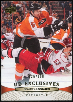 2011/12 Upper Deck Exclusives #64 Braydon Coburn /100