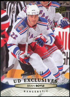 2011/12 Upper Deck Exclusives #79 Brian Boyle /100