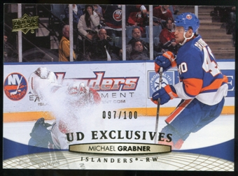 2011/12 Upper Deck Exclusives #81 Michael Grabner /100