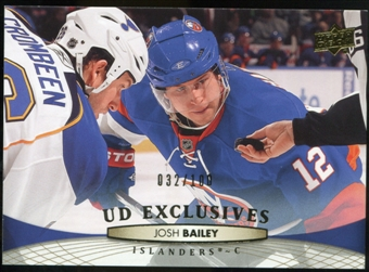 2011/12 Upper Deck Exclusives #85 Josh Bailey /100