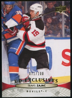 2011/12 Upper Deck Exclusives #89 Travis Zajac /100