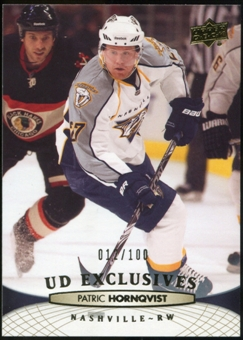 2011/12 Upper Deck Exclusives #93 Patric Hornqvist /100