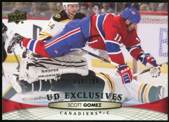 2011/12 Upper Deck Exclusives #101 Scott Gomez /100
