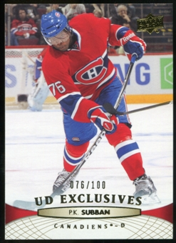 2011/12 Upper Deck Exclusives #102 P.K. Subban /100