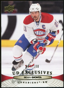 2011/12 Upper Deck Exclusives #103 Brian Gionta /100