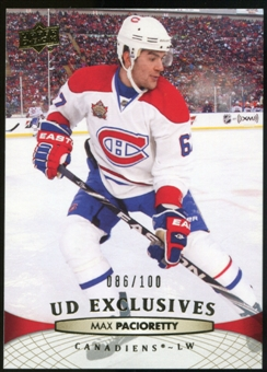 2011/12 Upper Deck Exclusives #105 Max Pacioretty /100