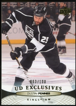 2011/12 Upper Deck Exclusives #114 Dustin Penner /100