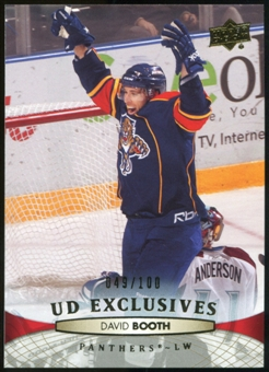 2011/12 Upper Deck Exclusives #120 David Booth /100