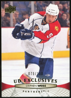 2011/12 Upper Deck Exclusives #122 Jacob Markstrom /100