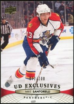 2011/12 Upper Deck Exclusives #123 Mike Santorelli /100