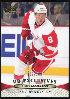 2011/12 Upper Deck Exclusives #137 Justin Abdelkader /100