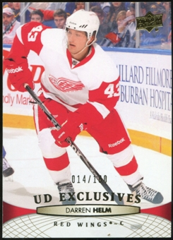 2011/12 Upper Deck Exclusives #139 Darren Helm /100