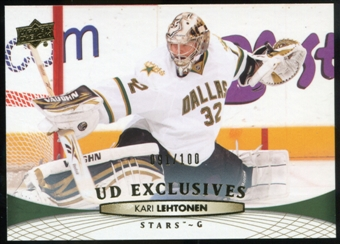 2011/12 Upper Deck Exclusives #141 Kari Lehtonen /100