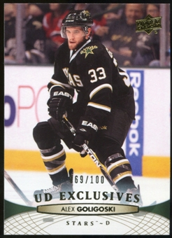 2011/12 Upper Deck Exclusives #142 Alex Goligoski /100