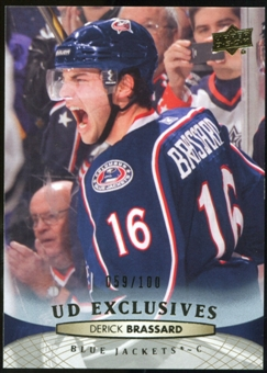 2011/12 Upper Deck Exclusives #148 Derick Brassard /100