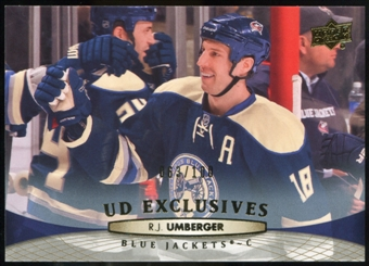 2011/12 Upper Deck Exclusives #151 R.J. Umberger /100