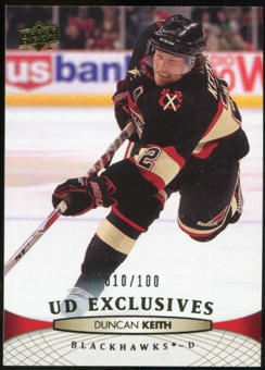 2011/12 Upper Deck Exclusives #166 Duncan Keith /100
