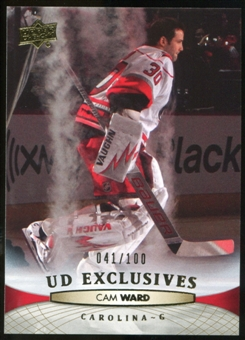 2011/12 Upper Deck Exclusives #170 Cam Ward /100