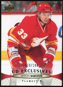 2011/12 Upper Deck Exclusives #177 Anton Babchuk /100