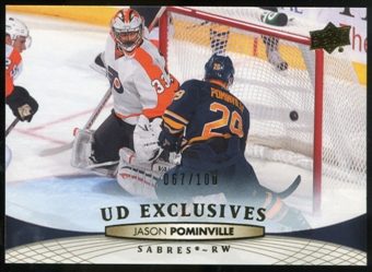 2011/12 Upper Deck Exclusives #186 Jason Pominville /100