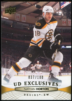 2011/12 Upper Deck Exclusives #190 Nathan Horton /100