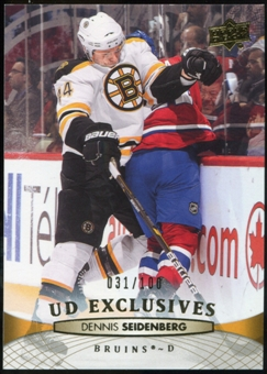 2011/12 Upper Deck Exclusives #192 Dennis Seidenberg /100