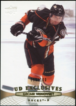 2011/12 Upper Deck Exclusives #195 Lubomir Visnovsky 55/100
