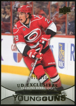 2011/12 Upper Deck Exclusives #205 Justin Faulk YG /100
