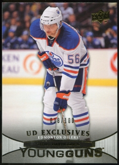 2011/12 Upper Deck Exclusives #216 Teemu Hartikainen YG /100