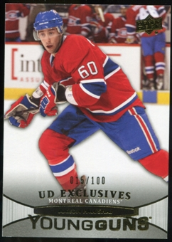 2011/12 Upper Deck Exclusives #219 Aaron Palushaj YG /100