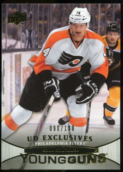 2011/12 Upper Deck Exclusives #234 Sean Couturier YG RC 98/100