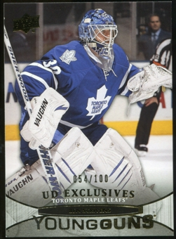 2011/12 Upper Deck Exclusives #244 Ben Scrivens YG /100