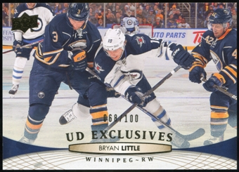 2011/12 Upper Deck Exclusives #256 Bryan Little /100