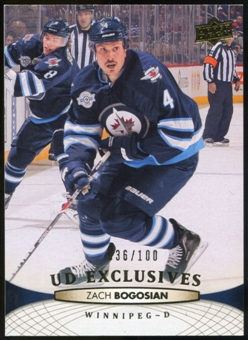 2011/12 Upper Deck Exclusives #258 Zach Bogosian /100