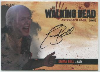 2011 The Walking Dead #A9 Emma Bell as Amy Auto