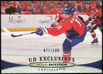 2011/12 Upper Deck Exclusives #261 Nicklas Backstrom /100