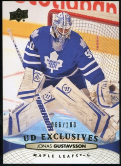 2011/12 Upper Deck Exclusives #277 Jonas Gustavsson /100