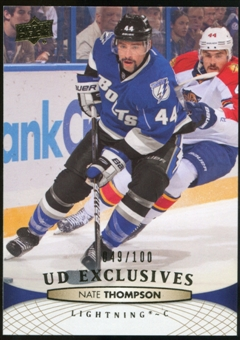 2011/12 Upper Deck Exclusives #284 Nate Thompson /100