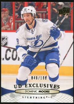 2011/12 Upper Deck Exclusives #285 Dominic Moore /100