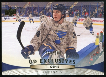 2011/12 Upper Deck Exclusives #290 T.J. Oshie /100