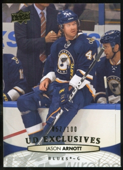 2011/12 Upper Deck Exclusives #291 Jason Arnott /100