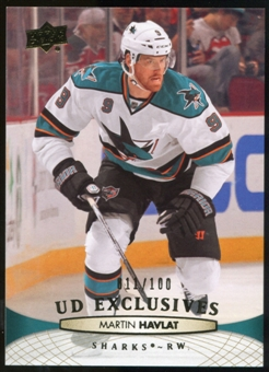 2011/12 Upper Deck Exclusives #295 Martin Havlat /100