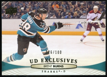 2011/12 Upper Deck Exclusives #297 Brent Burns /100