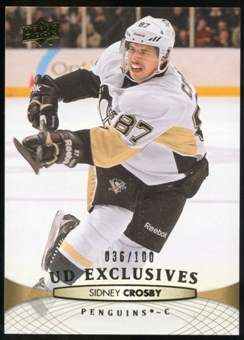 2011/12 Upper Deck Exclusives #301 Sidney Crosby /100