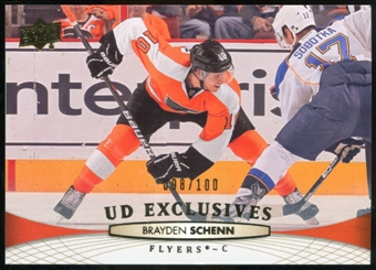 2011/12 Upper Deck Exclusives #315 Brayden Schenn /100