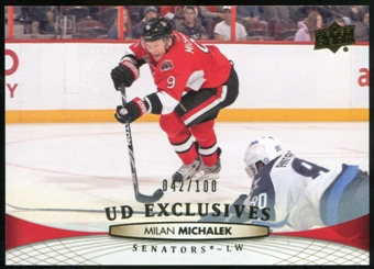 2011/12 Upper Deck Exclusives #322 Milan Michalek /100