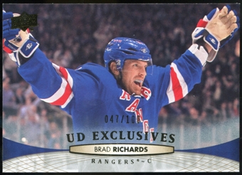 2011/12 Upper Deck Exclusives #328 Brad Richards /100