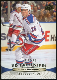 2011/12 Upper Deck Exclusives #331 Ruslan Fedotenko /100